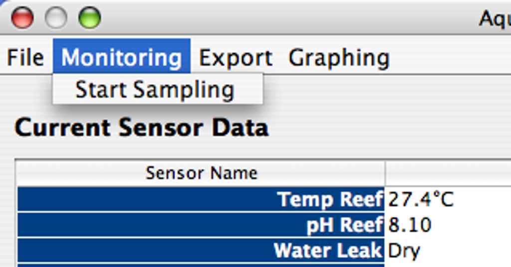 Visual way of starting the sampling process.