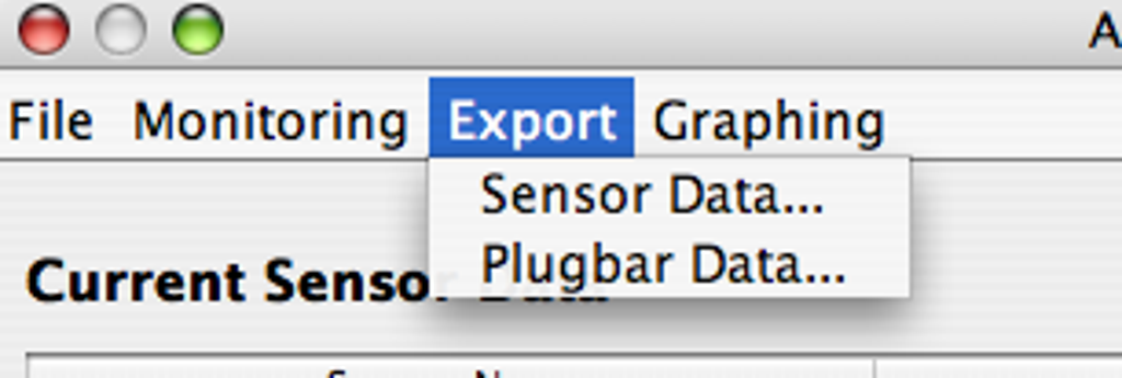 Exporting of sensor and plug data to Excel is supported.