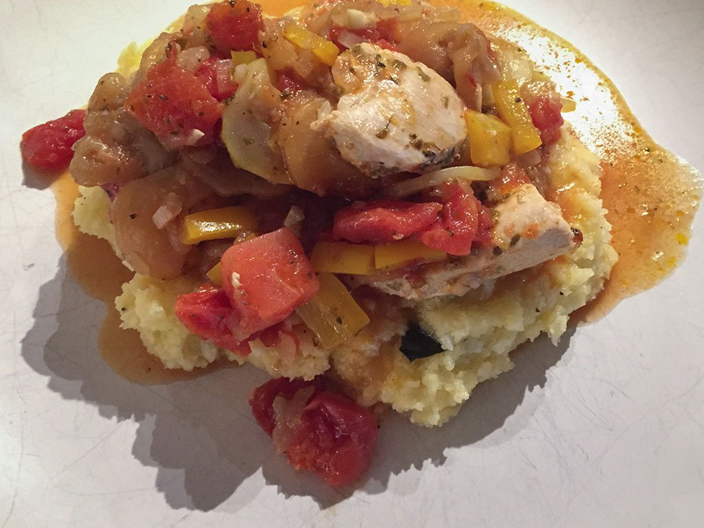 Chicken Ratatouille With Lemony Basil Polenta - iPhone