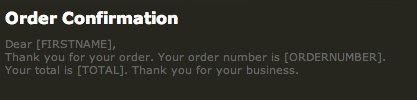 Order Confirmation