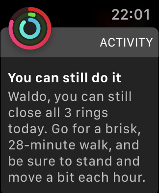 Apple Watch Activity Request