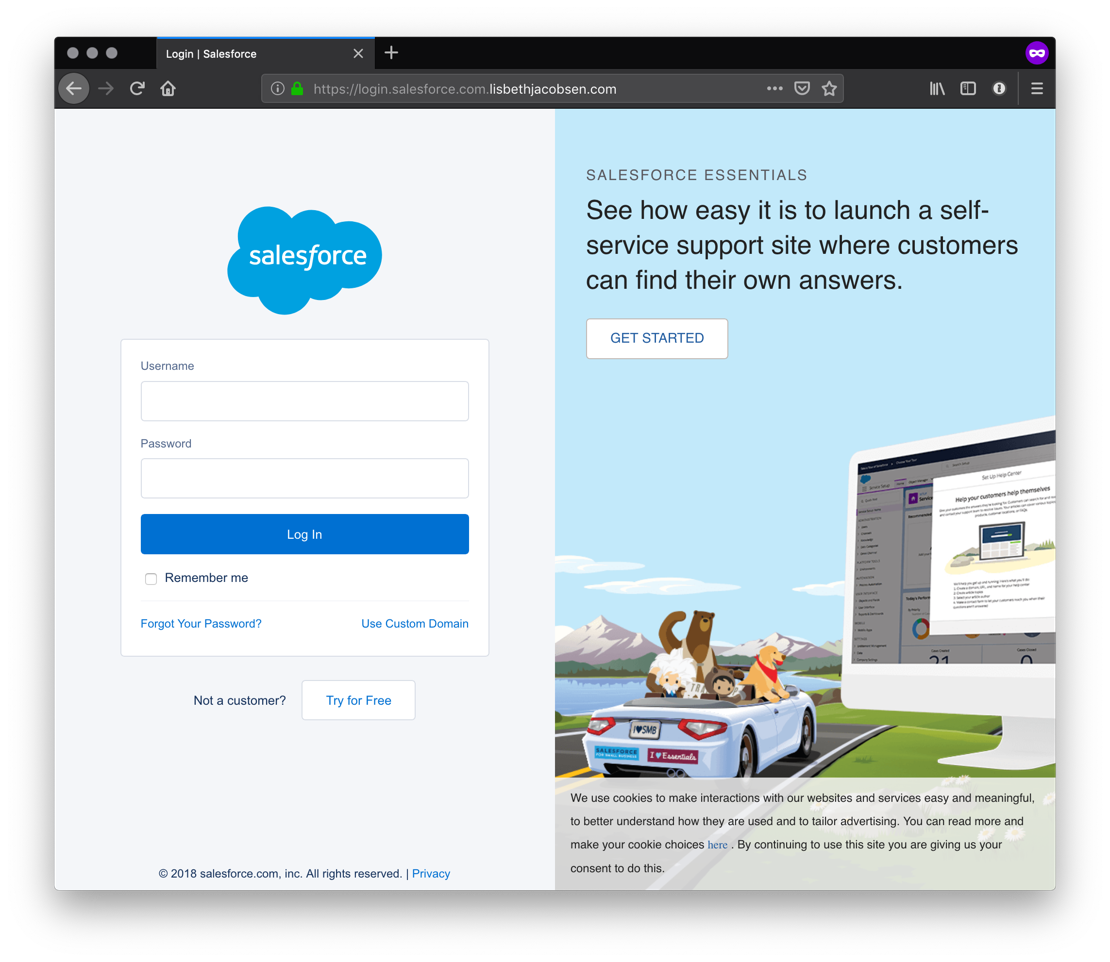 Salesforce Login 1