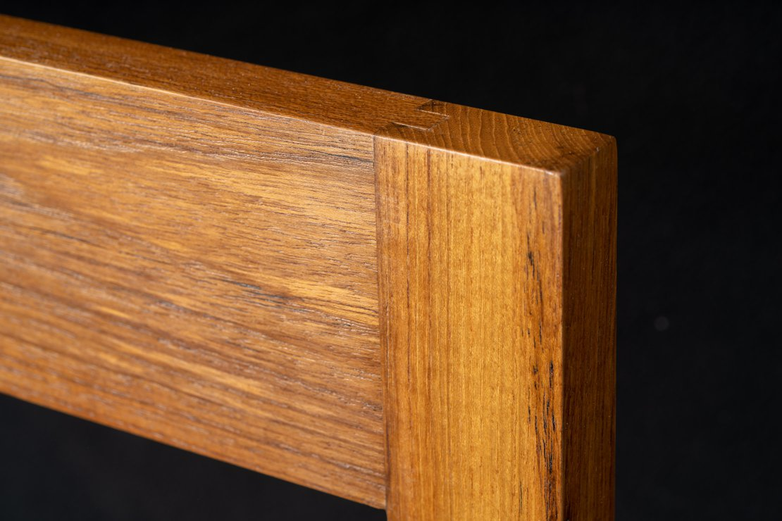 Large Teak Magnetic Knife Stand - Tenon Joint